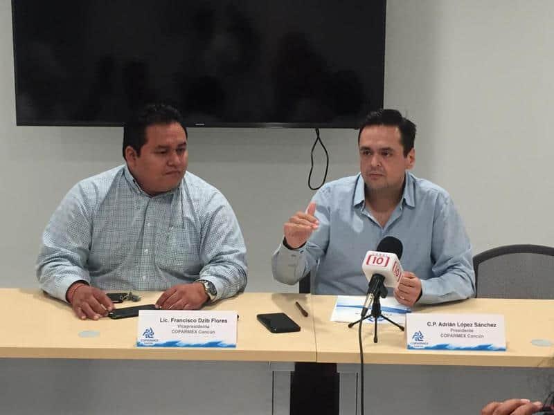 Coparmex Cancún pide al ayuntamiento no subir impuestos