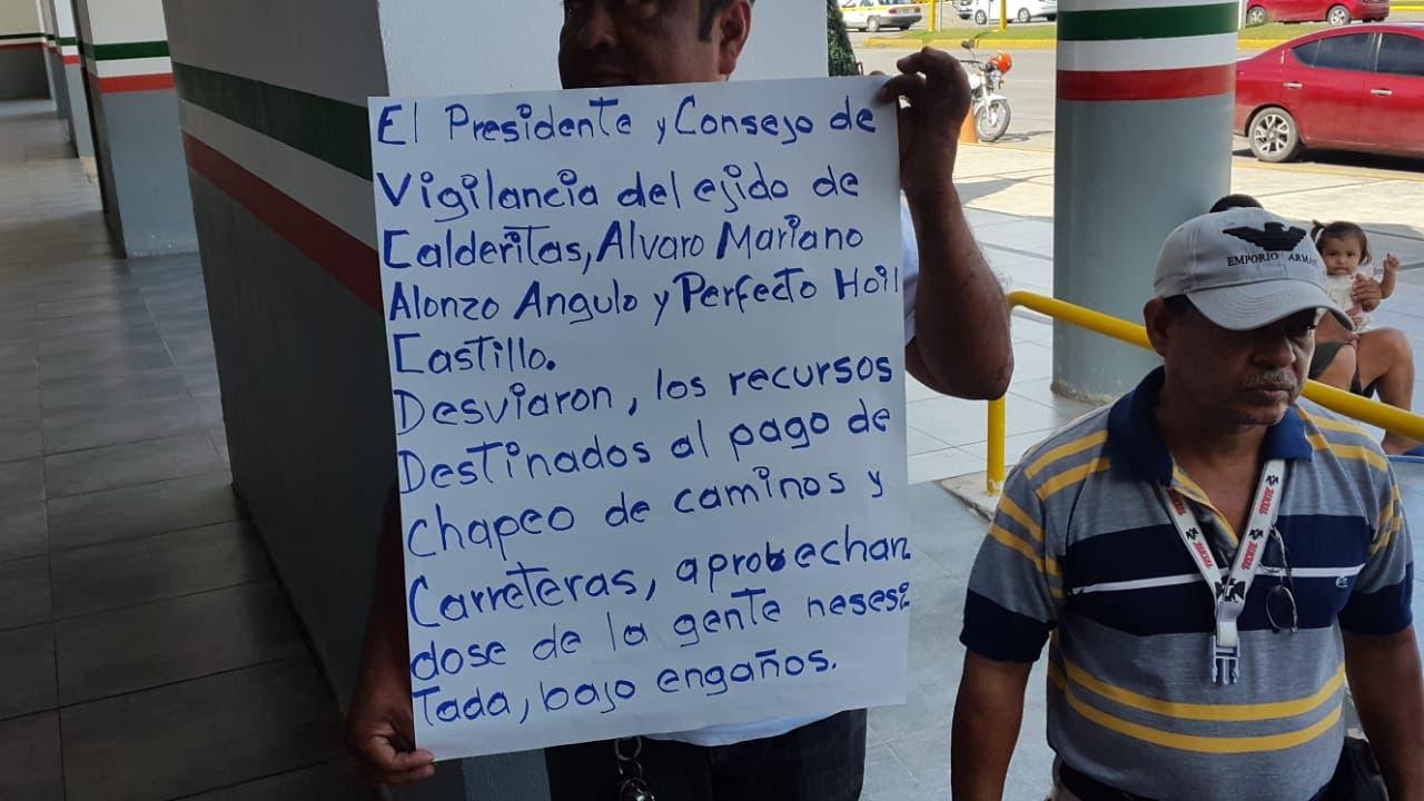 Acusan ejidatarios de Calderitas a SCT de desviar 1.3 mdp