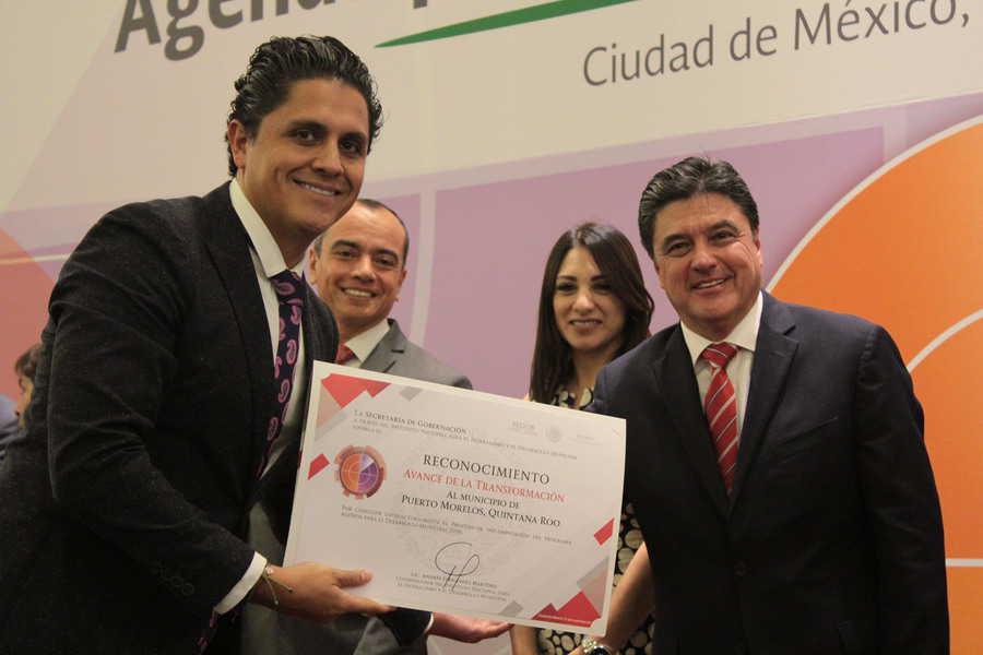 Puerto Morelos recibe reconocimiento en avance de transformación