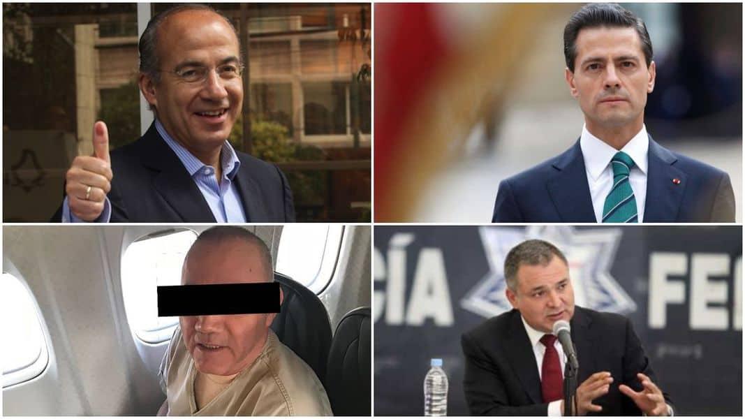 Impunidad desde EU para Peña, Calderón y García Luna