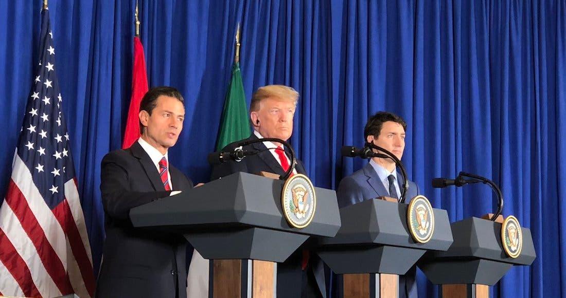 Firman México, EU y Canadá el T-MEC