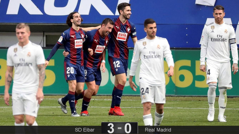 La Liga: Eibar derrota 3-0 al Real Madrid