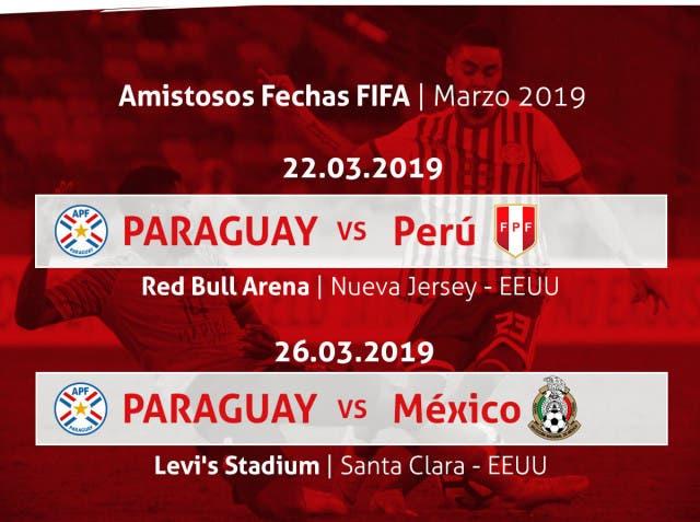 Paraguay confirma amistoso en contra de México