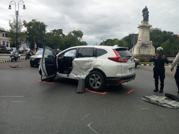 Accidente ostentoso en Paseo de Montejo en Yucatán