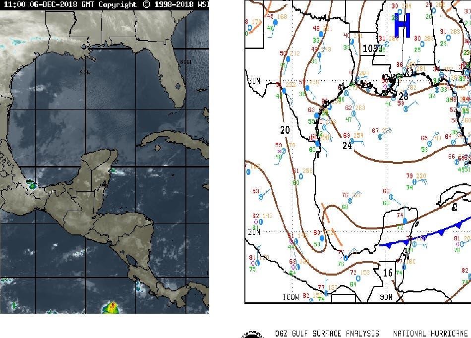 Frente frío seguirá afectando a la Península de Yucatán