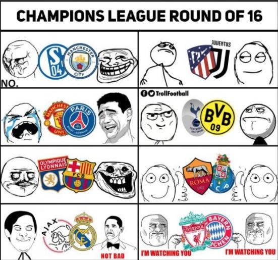 UEFA: Estos son los memes tras el sorteo de Octavos de Final