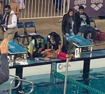 Nadadores intoxicados en Campeonato Nacional de Natación