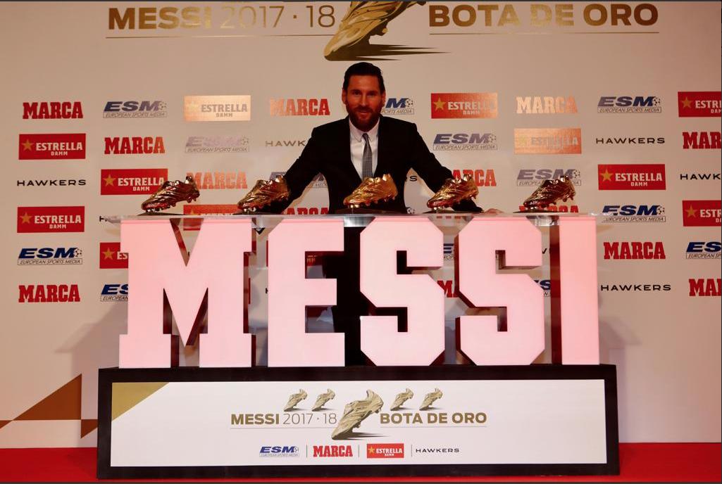 LaLiga: Messi recibe su quinta Bota de Oro