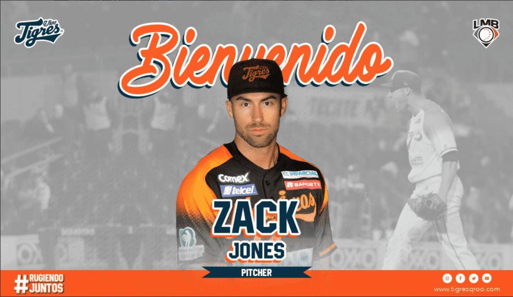 LMB: Zack Jones llega a los Tigres de Quintana Roo