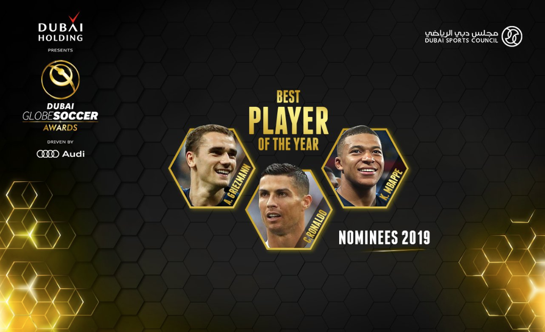 Griezmann, Cristiano Ronaldo y Mbappé, nominados a Globe Soccer