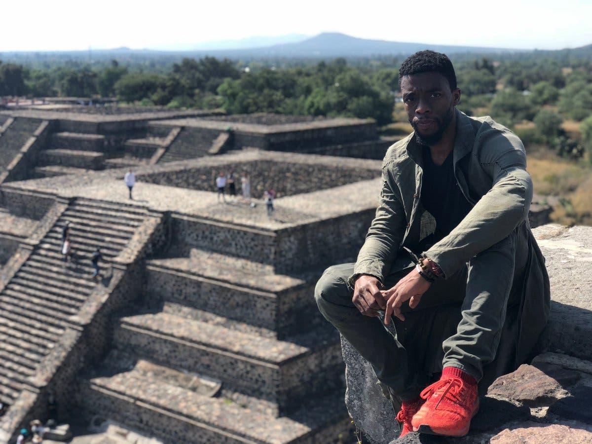 ¡Wakanda Forever! Chadwick Boseman visitó Teotihuacán