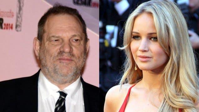 """Weinstein: """"Tuve relaciones con Jennifer Lawrence y ahora triunfa en Hollywood"""""""