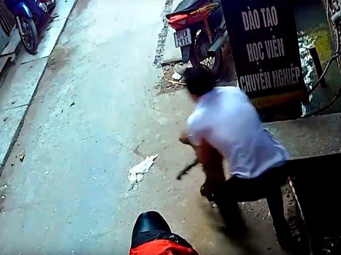 Vídeo: ¡Qué valiente! Hombre salva a perro de morir