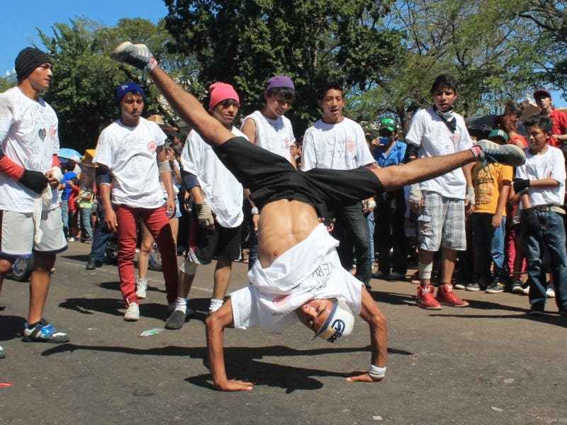 Concurso de break dance en Las Palapas