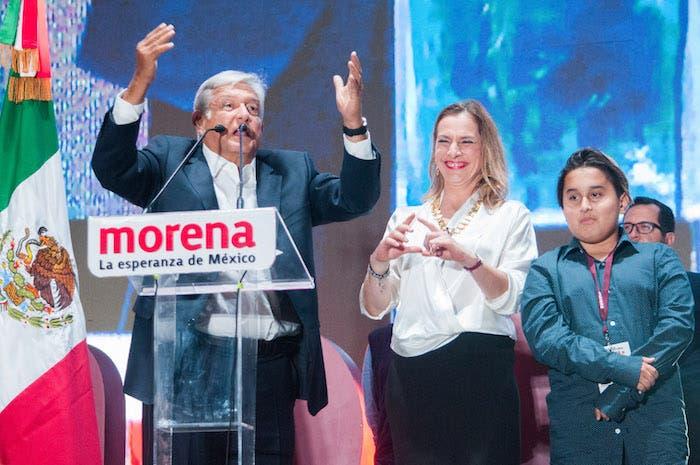 Mensaje después de la victoria en 2018. Foto: Cuartoscuro.