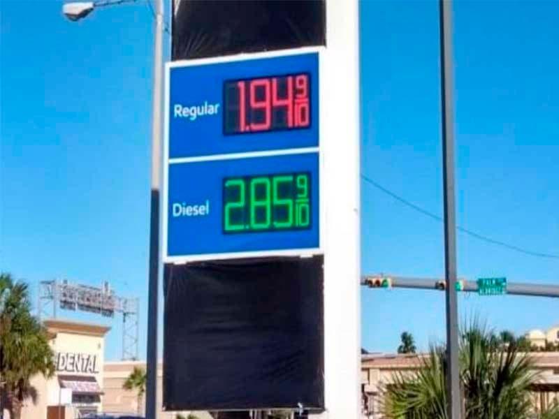 10 pesos el litro de gasolina