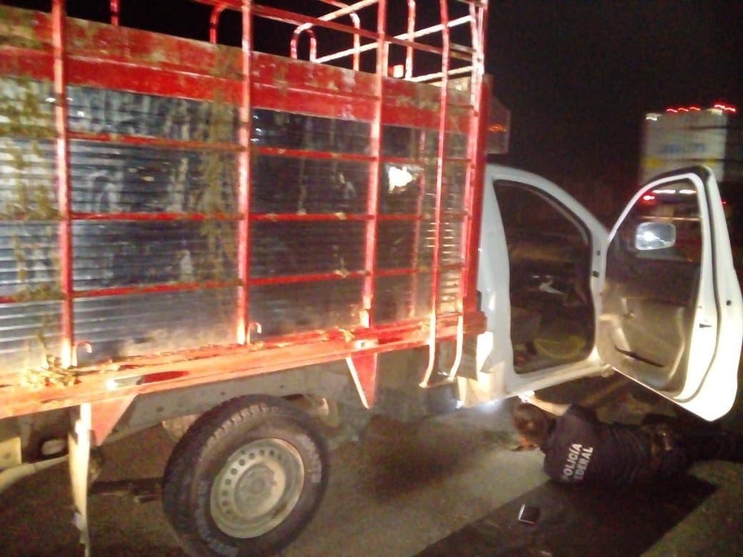Aseguran camioneta con reporte de robo cerca de Escárcega