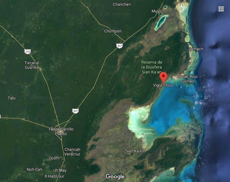 El primer ferrocarril en el estado de Quintana Roo iba del puerto de Vigía Chico a lo que hoy es Felipe Carrillo Puerto.