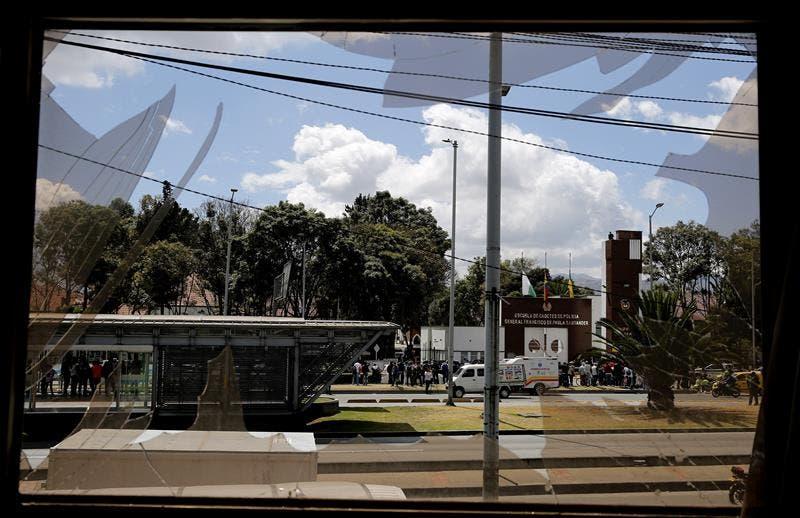 Imagen tomada desde el interior de la Escuela en Bogotá, Colombia.