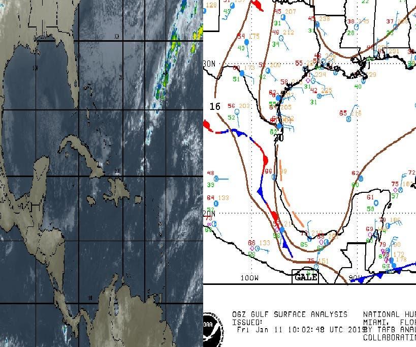 Pronostican lluvias aisladas para la Península de Yucatán