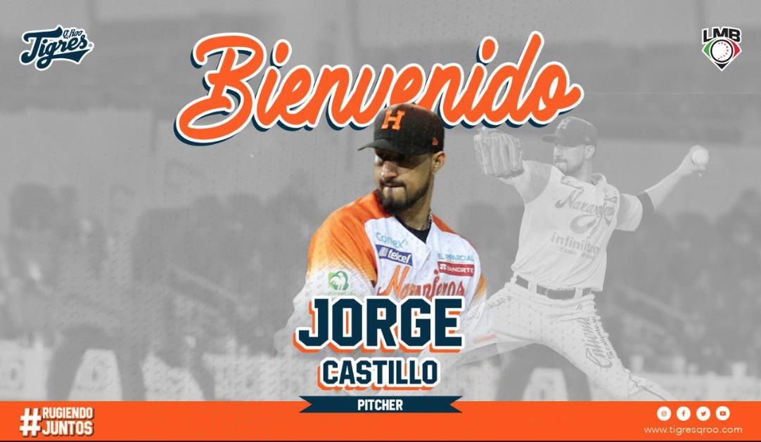 LMB: Los Tigres de Quintana Roo anuncia incorporación de Jorge Castillo