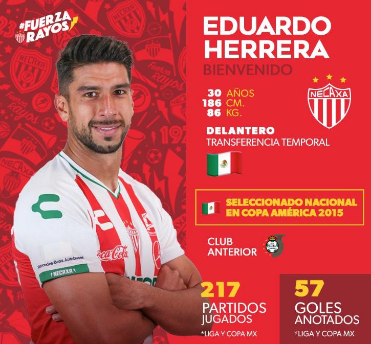 Liga MX: Necaxa anuncia a Eduardo Herrera como refuerzo para el Clausura 2019