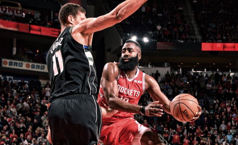 NBA: El balonazo a la cara de James Harden, del que todos hablan