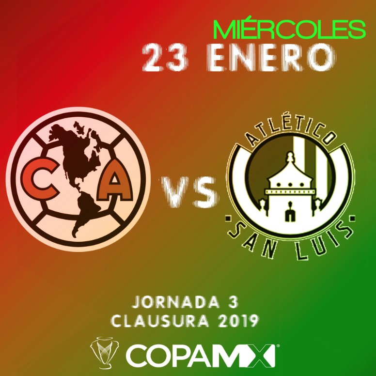 Copa MX: Ver en vivo América vs Atlético San Luis Jornada 3 del Clausura 2019
