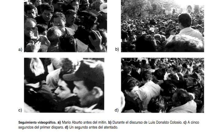 Secuencia del video original sobre el crimen del entonces candidato del PRI a la Presidencia de la República.