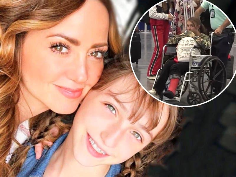 Hija de Andrea Legarreta sufre accidente durante filmación