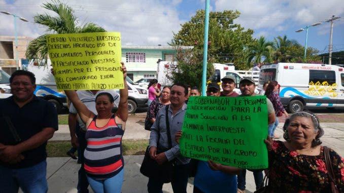 Habitantes de Calderitas denuncian a su presidente por desvío de dinero