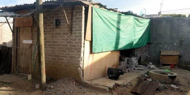Casa del presunto culpable y lugar donde fue encontrada Camila