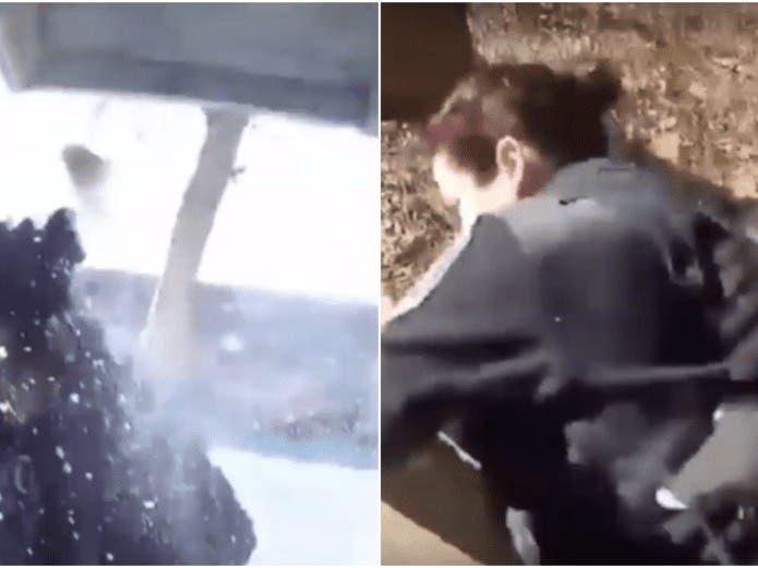 VÍDEO: Policía dispara contra su compañera por tratar de huir de un perro