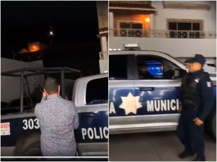 VÍDEO policía presta rifle para lanzar disparos de año nuevo   YA fue identificado