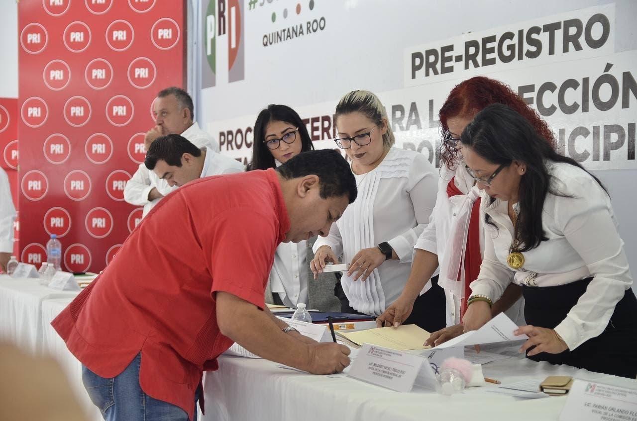 Registro de aspirantes como diputados del PRI