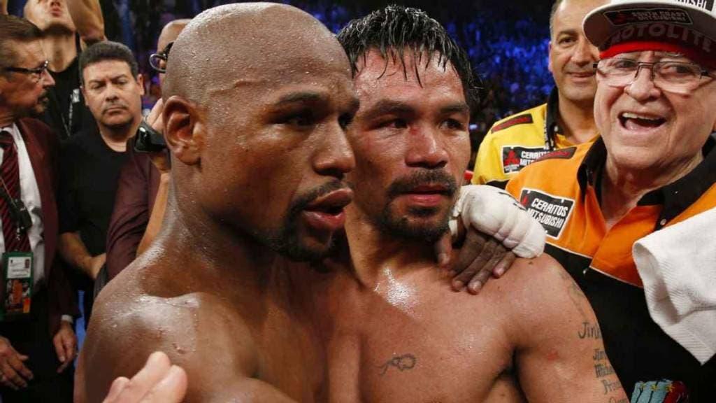 VIDEO: El momento en el que Manny Pacquiao se encuentra con Floyd Mayweather