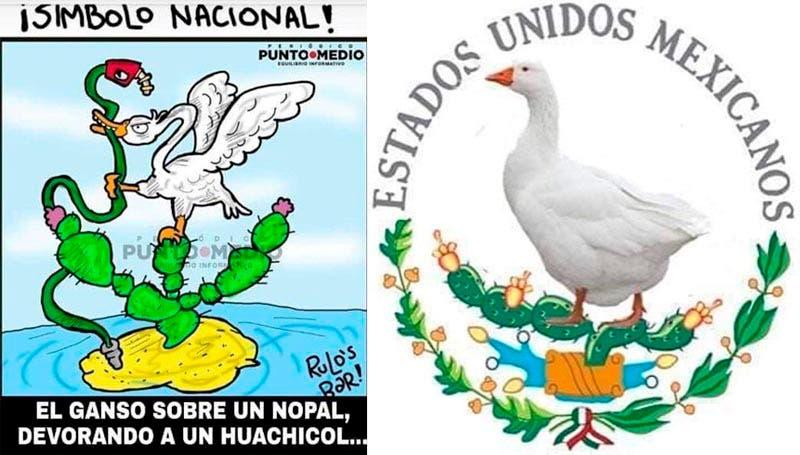 Memes del nuevo escudo nacional de México