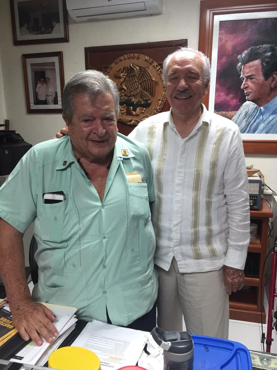 Se reúnen Don Gastón Alegre y Ricardo Acedo