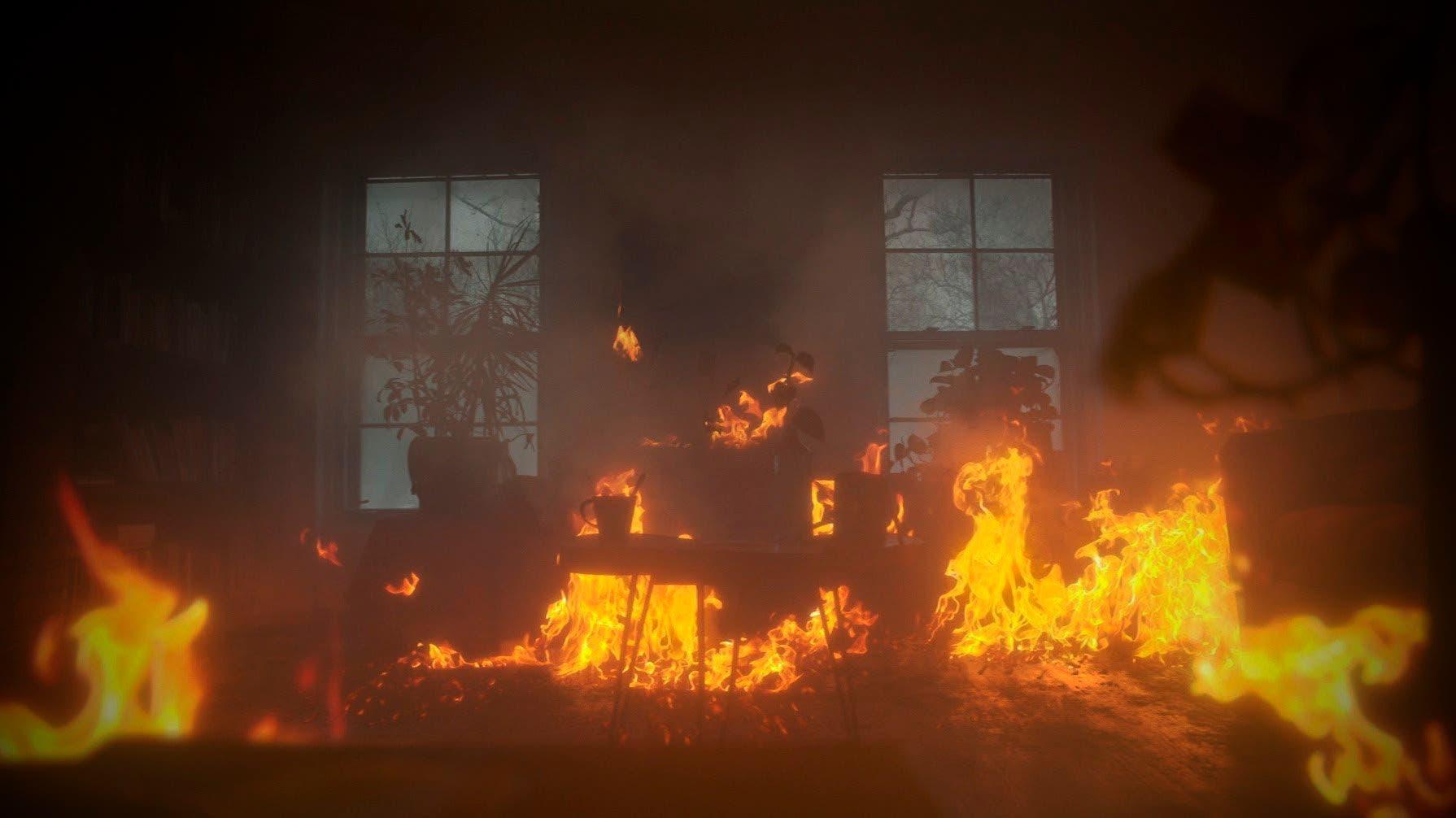 Señora se queda sin hogar por un incendio
