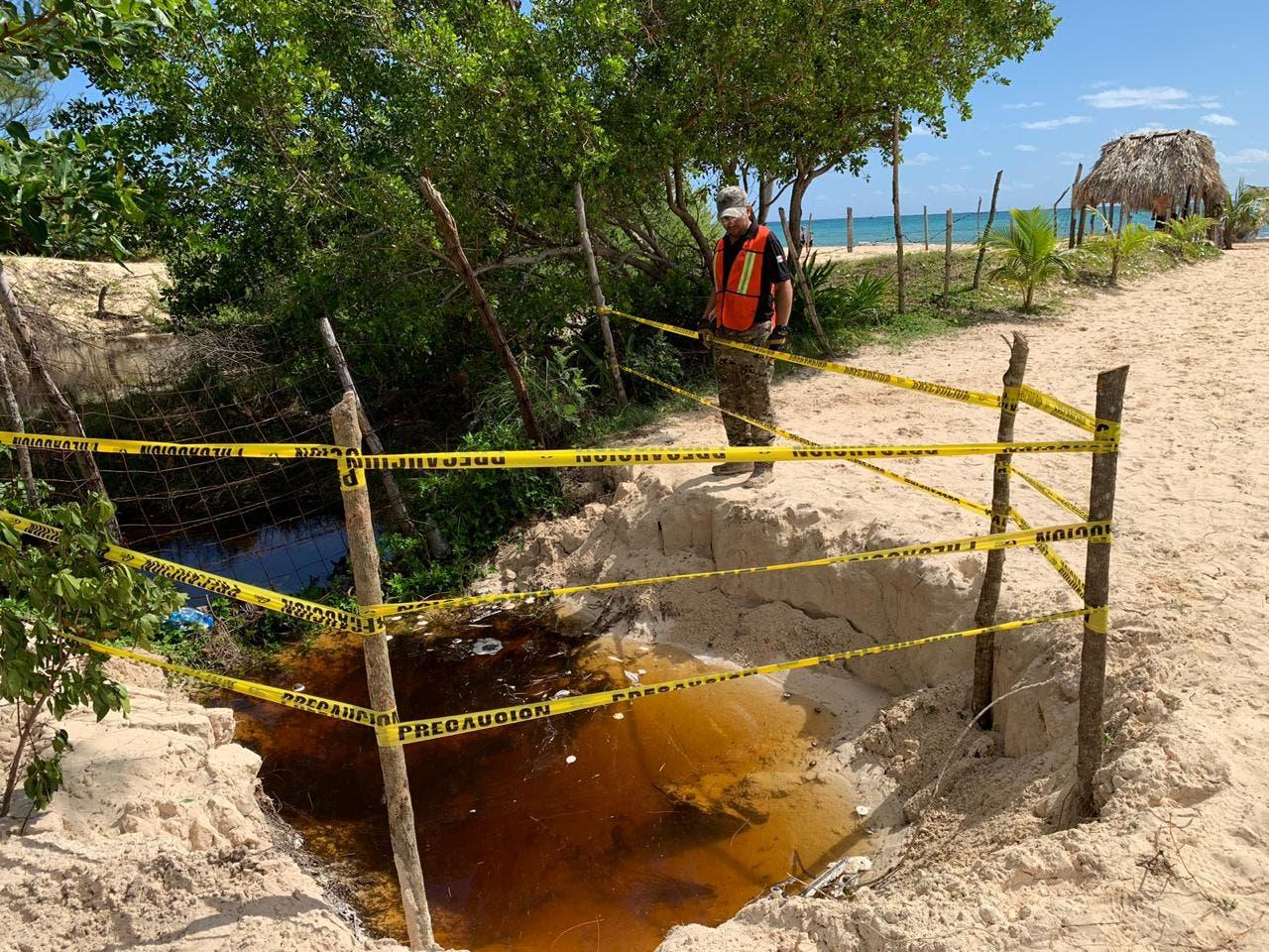 Socavón en zona de mangle de Playa del Carmen