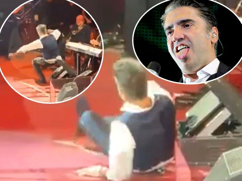 Video: Alejandro Fernández se cae en pleno concierto