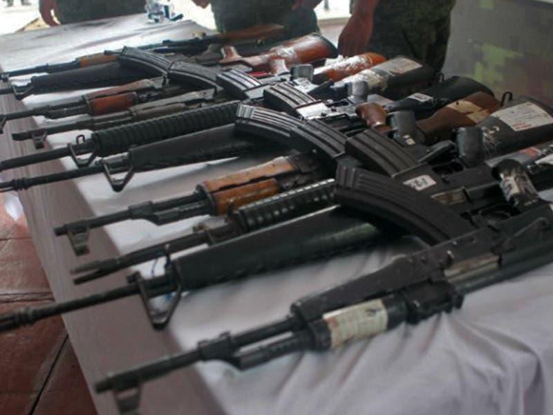 Armas de diferentes calibres