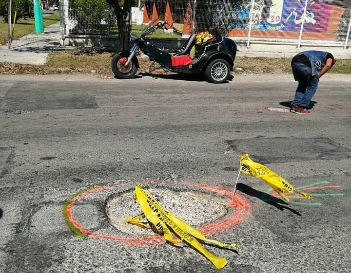 Motociclistas de Chetumal hacen el trabajo de las autoridades