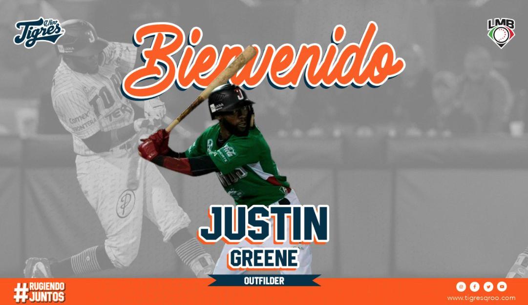 LMB: Justin Greene llega a los Tigres de Quintana Roo