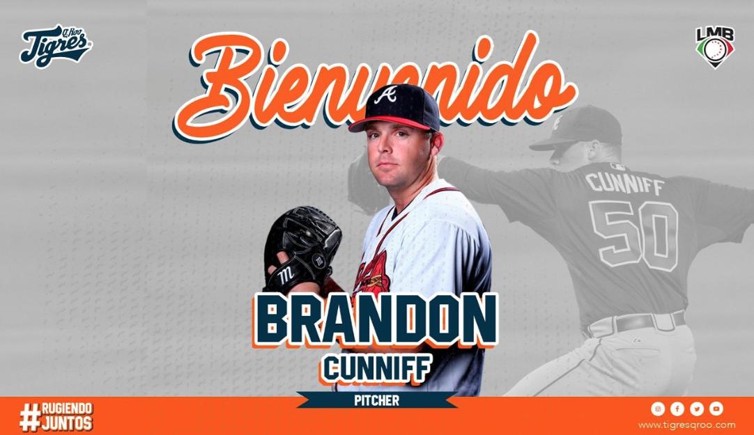 LMB: ¡Uno más! Los Tigres de Quintana Roo anuncian llegada de Brandon Cunniff