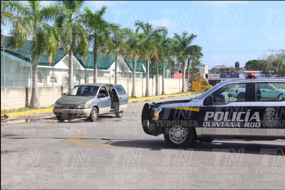 Dos baleados en Cancún; ambos trasladados como graves al Hospital General