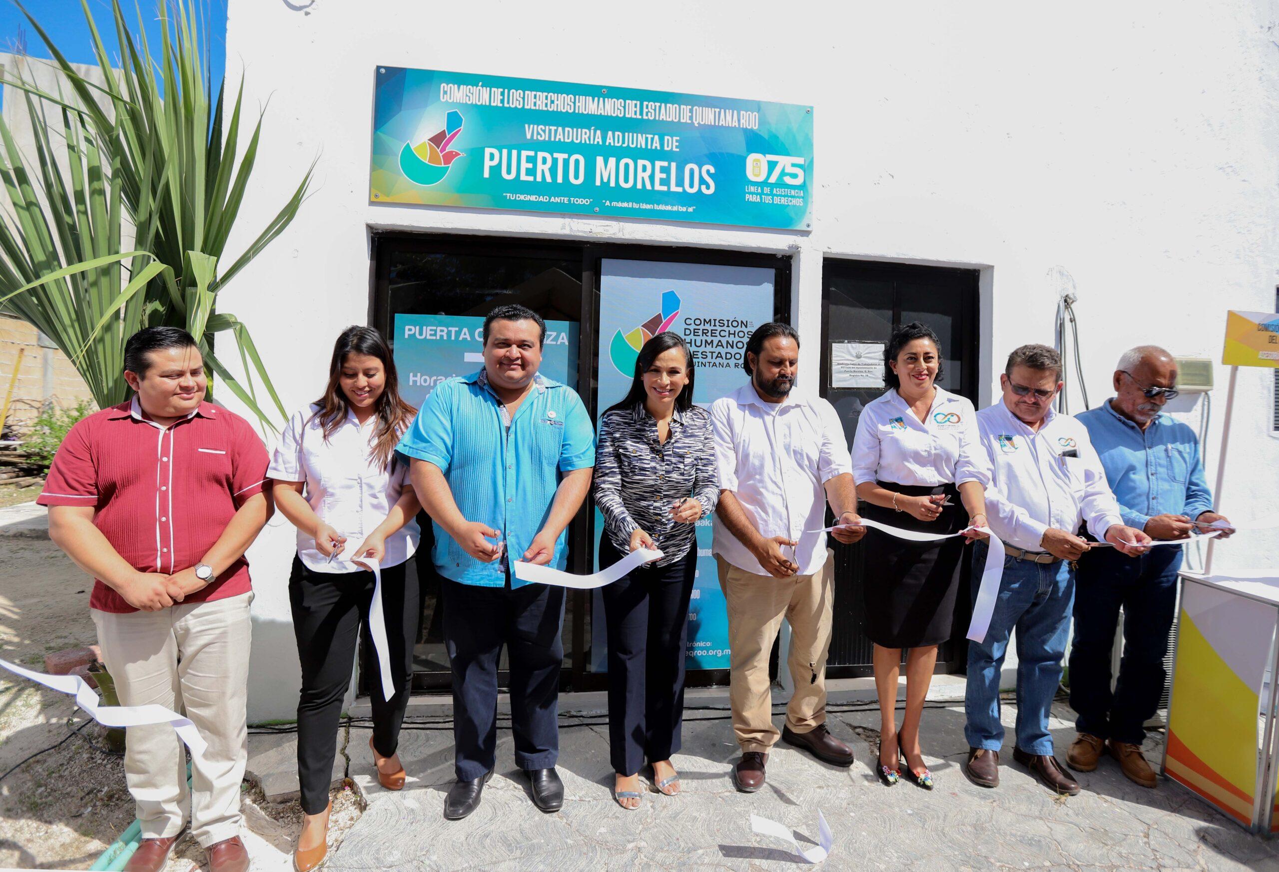 Comisión de los Derechos Humanos llega a Puerto Morelos