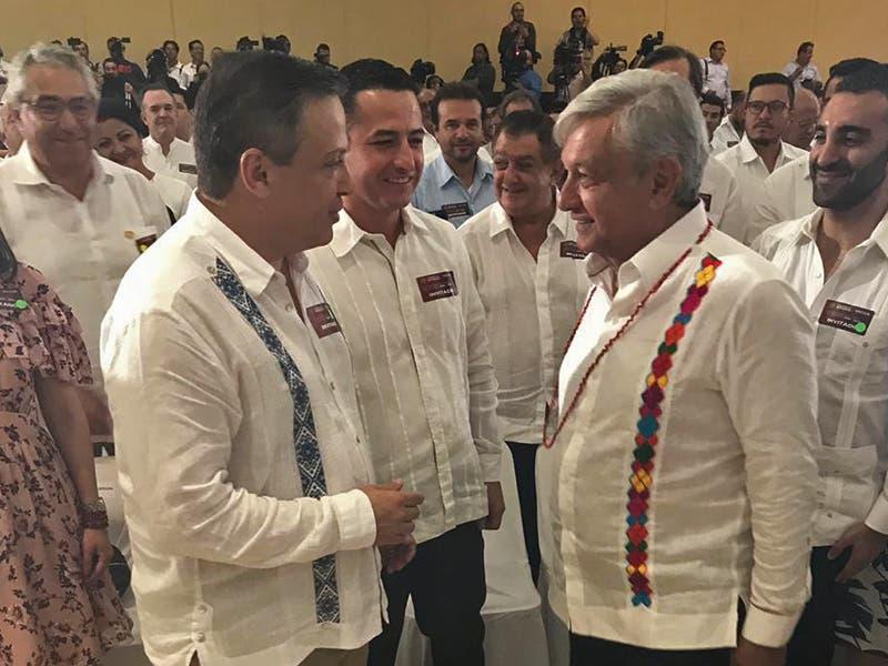 Diputado Luis Alegre y AMLO