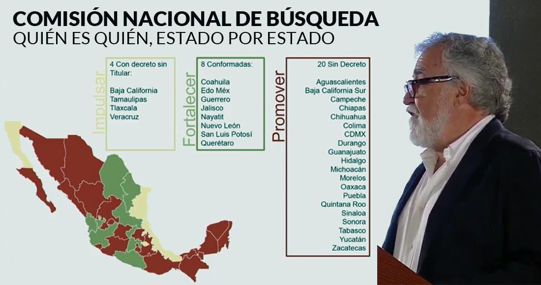 Simuló Peña Nieto búsqueda de desaparecidos: Encinas