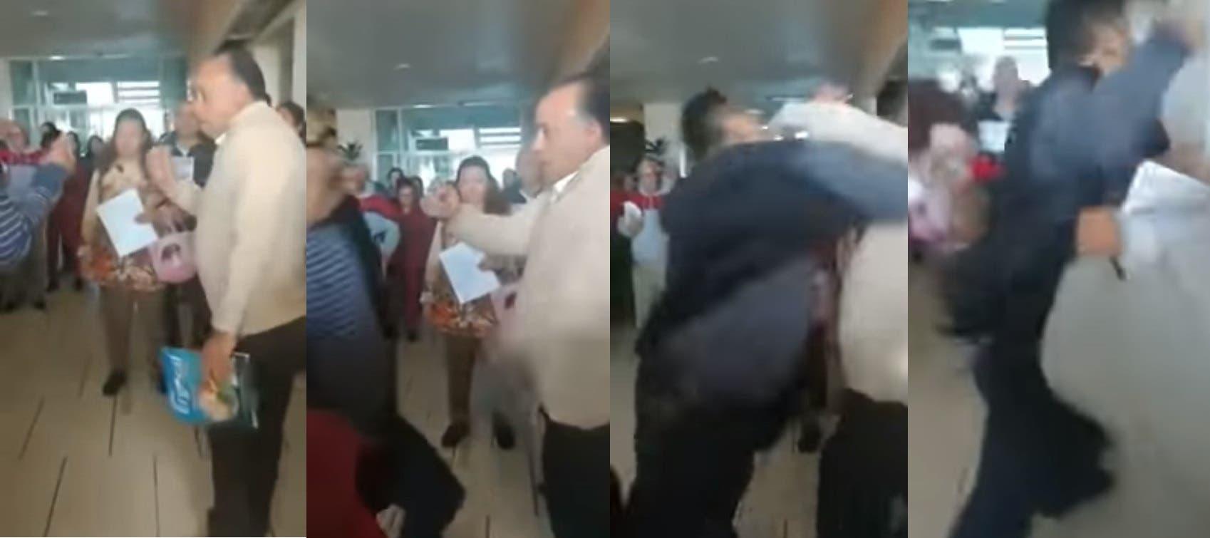 Video: Riña en el IMSS, empleado contra derechohabiente, en Toluca